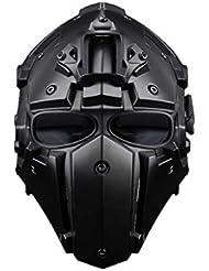 DXX Tactical Military Helmet Paintball Helmet Airsoft Helmet Protective Helmet Full Face Mask For Outdoor Activity Head Circumference: 54-64cm