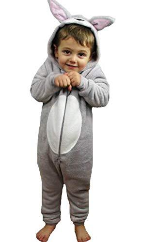Kinder Einteiler, flauschig, Fleece, Tiere, Mädchen oder Jungen, Hühner, Katze, Affe, Mops, Einhorn, Schaf, Hund, Bär, Gorilla, für Kinder im Alter von 2-13 Jahren Gr. Alter 5-6 Jahre,Fluffy Rabbit (Jungen Buch Der Woche Kostüm)