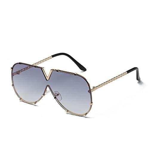 YOURSN Mode V Übergroße Sonnenbrille Männer Frauen Spiegel Fahren Sonnenbrille Brillen Coole Metallrahmen Uv400 Sonnenbrille-01