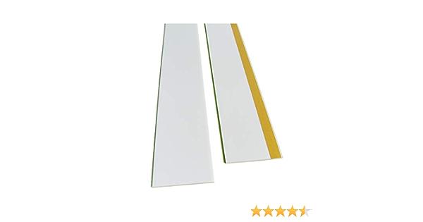 PVC Abdeckleiste Selbstklebend Flachleiste Fensterleiste Kunststoff 5m Quest