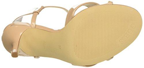 Guess Deetra2 Patent Pu, Sandales avec bride femme Beige - Beige (Nude)