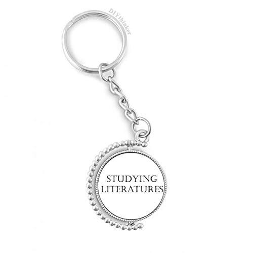 DIYthinker Kurz Phrase Studieren Literaturen Drehbare Schlüsselanhänger Ringe 1.2 Zoll x 3.5 Zoll Mehrfarbig