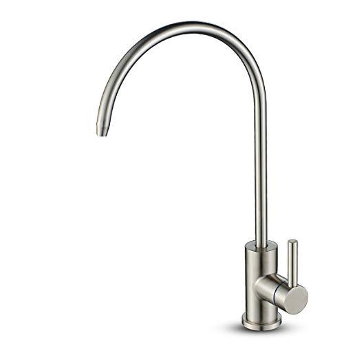 ROVOGO Wasserfilter-Reiniger-Wasserhahn, bleifreies Trinkwasser, Wasserhahn für Wasserfiltration, Edelstahl, Küchenbar-Prep Wasserhahn, kein Luftspalten, nur Kaltwasser -