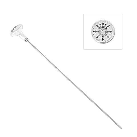 Flower Pin Swarovski cabochon 1028 8 mm rhodium Crystal x1