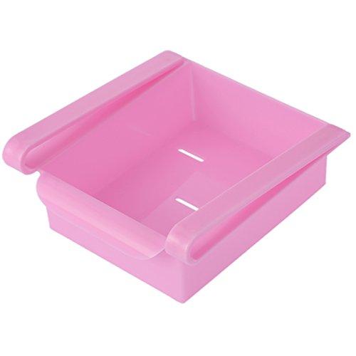LKXHarleya Kühlschrank Slidable Halter Box Gefrierschrank Lebensmittel Aufbewahrungsboxen Vorratskammer Organizer Behälter Container platzsparende Kühlschrank Lagerung Box (Lebensmittel-lagerung-container Gefrierschrank)