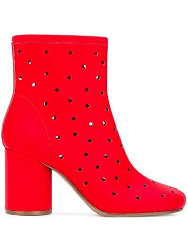 Maison Margiela Damen S39wu0083sy0550962 Rot Leder Stiefeletten