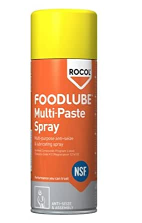 15751 ROCOL FOODLUBE MULTI-PASTE SPRAY (NSF REGISTERED) FOOD GRADE ANTI-SEIZE AND ASSEMBLY 400ML