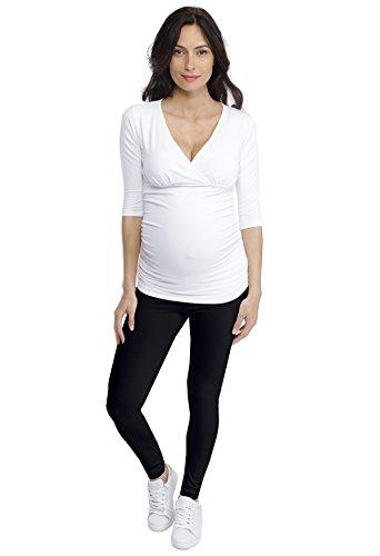 Tee shirt Manches 3/4 Col V LYS Blanc