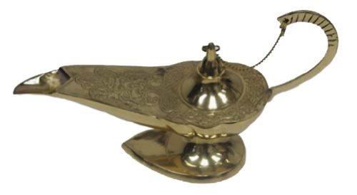 ller Aladdin Lampe Räuchergefäß (Gold Genie Lampe)