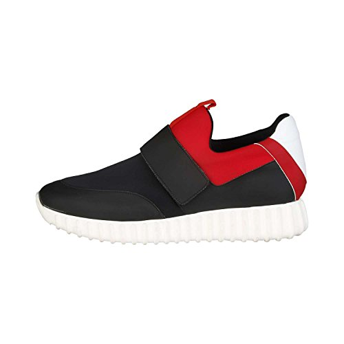 Made in Italia - LEANDRO Baskets Coupe-Bas Pour Homme Fermeture En Velcro