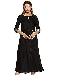 W for Woman Rayon A-Line Dress