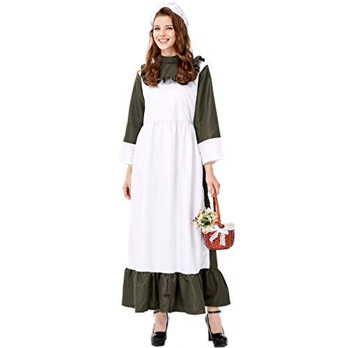 Plus Size Frauen Langen Rock Maid's Dress Cosplay Halloween Maid's Kleidung Festival