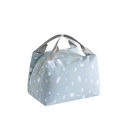 KonJin Lunchpaket Isolationsbeutel Wärmeisolierte Lunchbox Tote Kühltasche Bento Pouch Lunch Container Mittagessen Beutel Isolier Food Storage Bag tragbare Reise Arbeits Bento Box