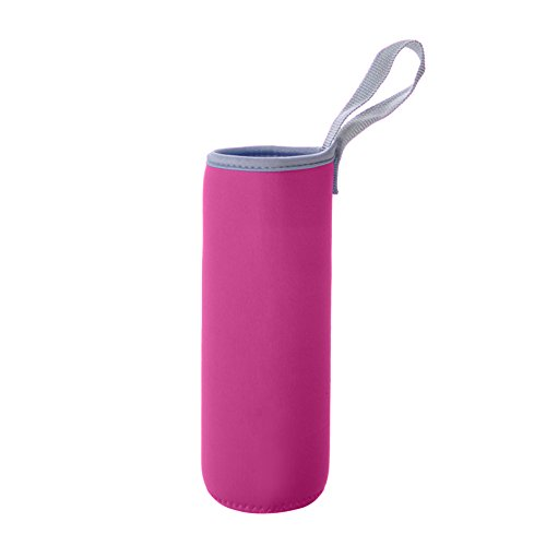 ,2cm Dia isoliert Glas Flasche Abdeckungen, 16Unze Neopren Camping tragbar cup sleeve, unisex, hot pink (Glas Flaschen Bulk)