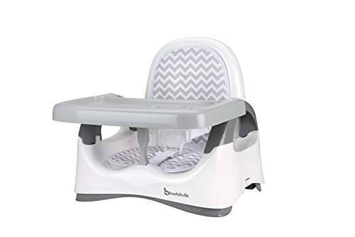 Badabulle Réhasseur de Chaise Confort Blanc / Gris Bébé Pliable Evolutif