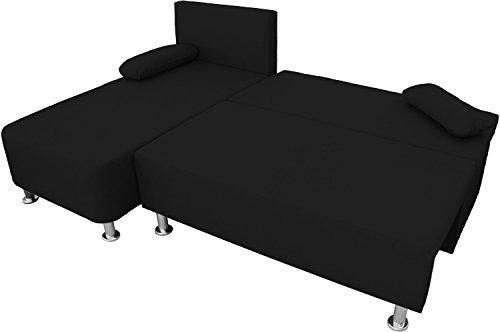 ONUX Ecksofa Couch mit Schlaffunktion Schwarz - 3
