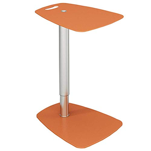 YueQiSong Lifting Sofa Side Table Can Rotate The Parlour Corner Several Glass Leisure Table Square Table Coffee Table Mobile Small Coffee Table, Orange 17-slot-chassis