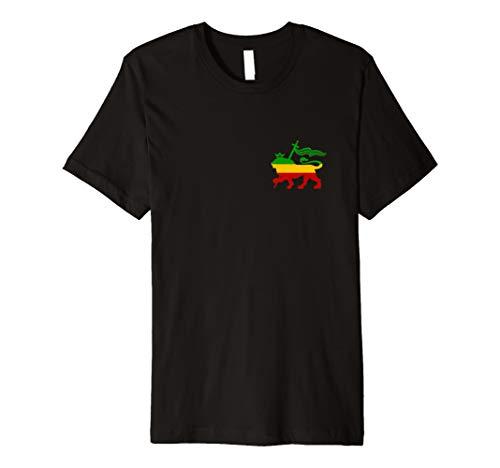 Old Äthiopische Flagge Löwe von Juda Rasta Reggae Geschenk T Shirt