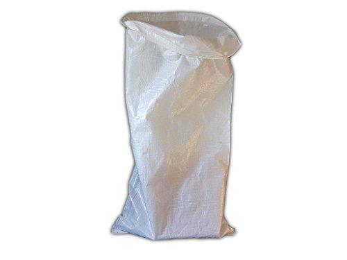 (10Stück) 60x 110cm, PP, mit PE-gewebten Säcke Polypropylen Beutel 130g mit Kunststoff Innen Verpackung Paket Entsorgung - Kohle Kostüm