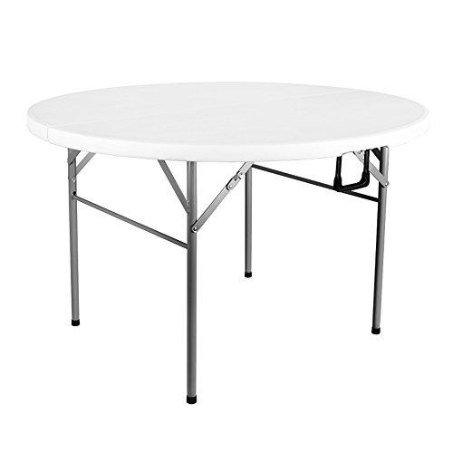 Runde Große Klapptisch (LJHA Klapptisch/runder Tisch/tragbarer Tisch/großer Haushalts Esstisch / 122 * 74cm Tabelle)