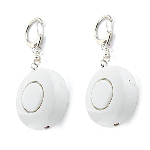 2 Satz Personal Alarm Keychain - iParaAiluRy 130 dB LED SOS Panikalarm