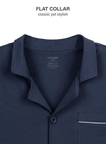 a4fc7d6ec3c6 Genuwin Pigiama da Uomo Intero Set di 100% Cotone, Design Elegante e ...