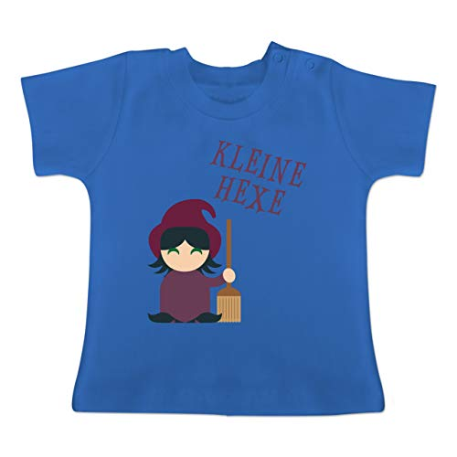 Mops Frechen Kostüm - Halloween Baby - Kleine Hexe süß - 1-3 Monate - Royalblau - BZ02 - Baby T-Shirt Kurzarm