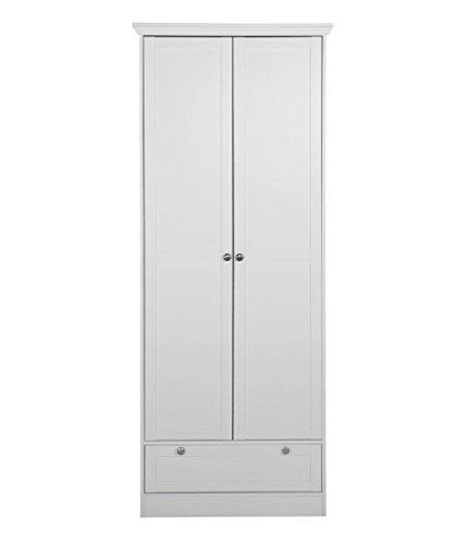 expendio Mehrzweckschrank Landström 13 weiß 80x200x39 cm Schrank Schuhschrank Garderobe Wohnzimmer Jugendzimmer Arbeitszimmer Landhausmöbel