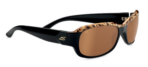 Serengeti Eyewear Sonnenbrille Chloe, Shiny Brown Cork To Black, M, 7749