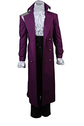 Fuman Prince Rogers Nelson in Purple Rain Mantel Cosplay Kostüm (Halloween Kostüme Rain Purple)
