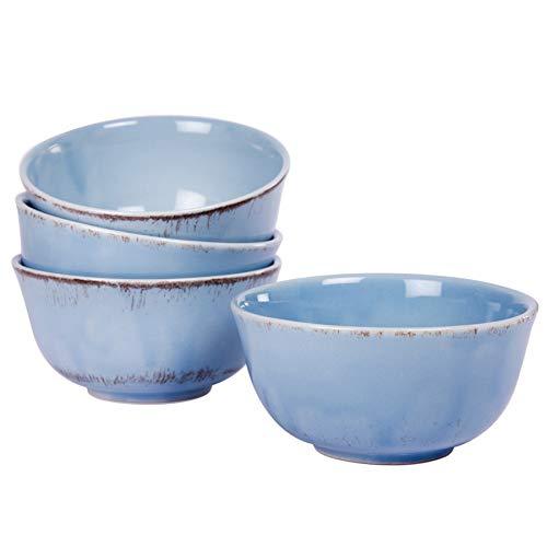 4er Set Müslischale Schüssel Schale Geschirr Keramik - Serie Tosca M in Blau Shabby Style Landhaus