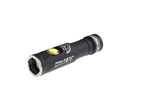 Armytek Prime A1 LED Taschenlampe für AA Batterie oder 14500 Akku - 10m wasserdicht, 10m sturzresistent - warmweiß