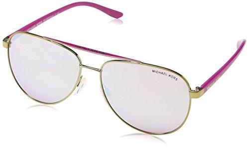 Michael Kors Unisex Sonnenbrille MK5007 Hvar, Gold (Gold/Pink 10397V), One size (Herstellergröße: 59) (Michael Pink Sonnenbrille Kors)