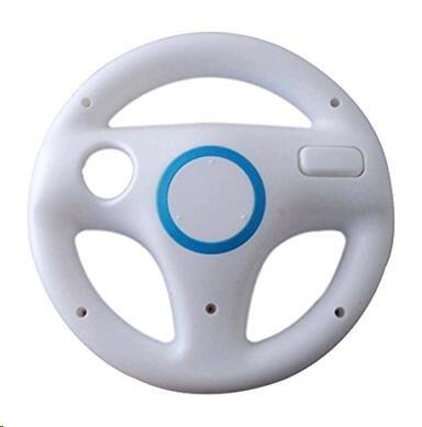Antifire® Wii Controller Lenkrad White Controller Lenkrad Mario Kart Racing Wheel Game-Controller für Nintendo Wii Remote
