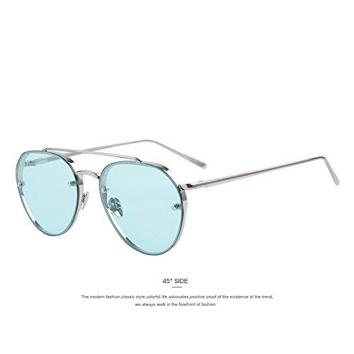 TIANLIANG04 Frauen Sonnenbrille einzigartigen Stil Drosselklappe weiblichen Sonnenbrillen Damen Sonnenbrillen fünfstrahligen Stern, C03 Gelb