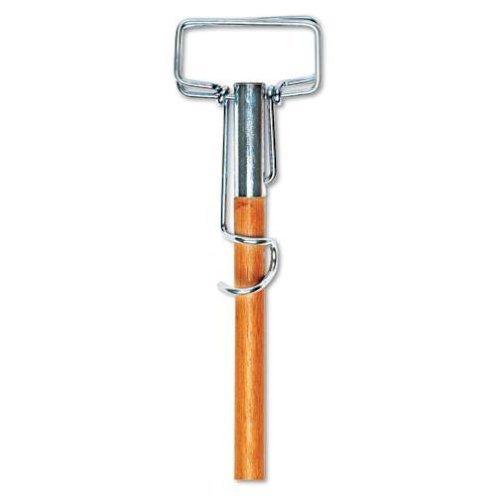 UNISAN Spring Grip Metal Head Mop Handle for Most Mop Heads, 60 Inch Wood Handle (609) by Unisan Mop Heads 60