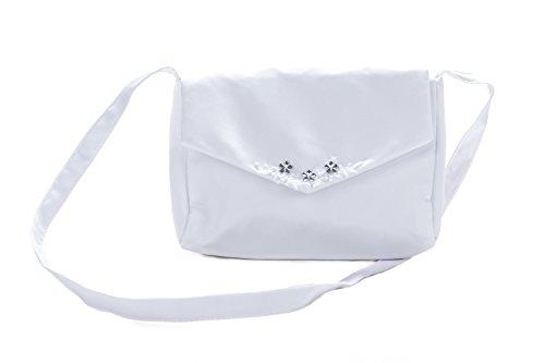 Sommer-SALE! Abendtasche Brautbeutel Weiß/Silber
