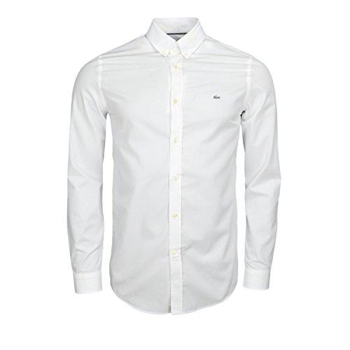 Chemise Lacoste régular fit basique blanche pour homme Blanc