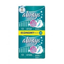 Always Ultra Normal Plus 26 Economy Pack 26 Sanitary Napkins