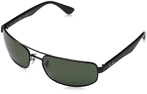 Ray-Ban Damen Sonnenbrille RB3445, Gr. Large (Herstellergröße: 61), Black (Grün)