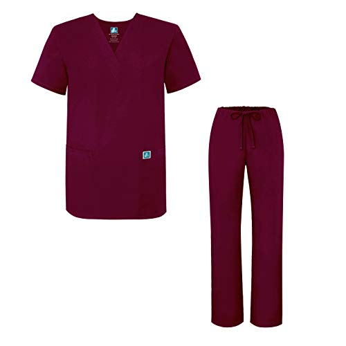 Adar Universal Medical Scrubs Set Medical Uniforms - Unisex Fit - 701 - BRG -3X
