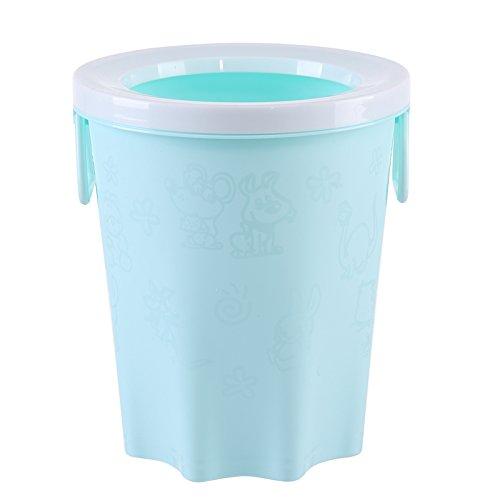 Das Büro mit Hochdruckreiniger Warenkorb Kunststoff keine Abdeckung Runde Küche Hygiene Eimer, Hellblau