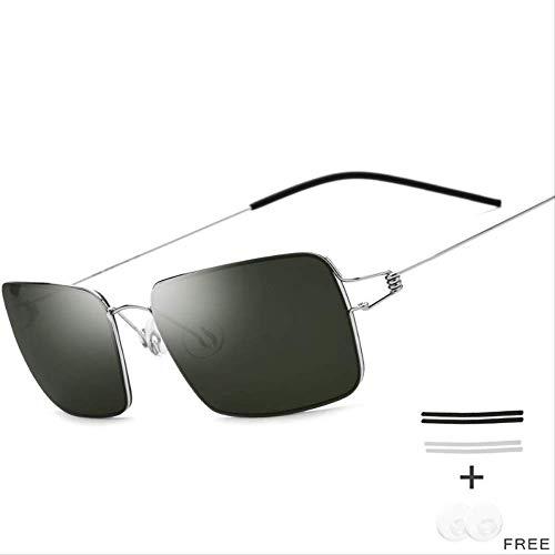 LKVNHP Schraubenlose Brillen Männer Platz Sonnenbrille Ultraleicht Frauen Berühmte SonnenbrilleGrün