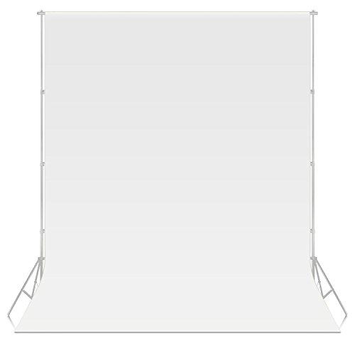 Neewer® 10 ft x 20 ft/3 x 6M Vliesstoffe Hintergrund Kulisse Stoff für Foto Studio Portrait Fotografie Video Shooting (Weiß) -