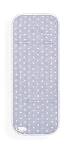 Colchoneta Silla de Paseo Universal Transpirable Estrellas Azul