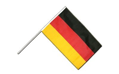 Flaggenfritze® Große Stockflagge Schwenkflagge Deutschland 60 x 90 cm
