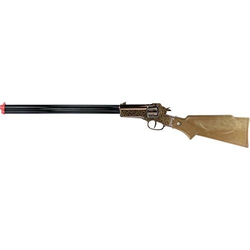 NET TOYS Fusil Rapid Fire 9 8 coups 655 mm noir-marron carabine shérif arme à chargement par la culasse western pétard cowboy fusil jouet Texas
