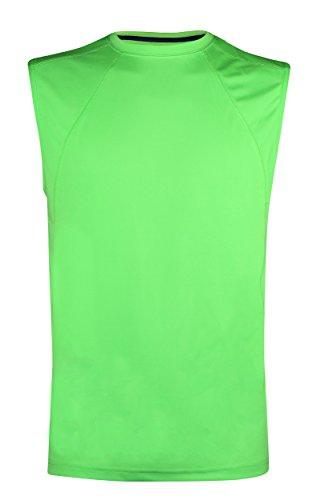 Da uomo senza maniche estate vacanza Gym Wear Canottiera regalo per lui Green Flash Large