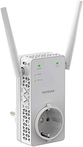 Netgear EX6130 WLAN Repeater Dual Band AC1200 (WiFi-Signal-Verstärker & Booster, Abdeckung von 2 bis 3 Räumen & 20 Geräten, Geschwindigkeit bis zu 1200 MBit/s, integrierte Steckdose, EX6130-100PES)