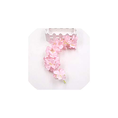 Eternity Bliss Künstliche Blumen 10pcs Streifen Rebe für Hause Wedding Partei-Kind-Raum-Dekoration Craft Fake Flowers, Hellrosa (Kunststoff-platten Bulk)